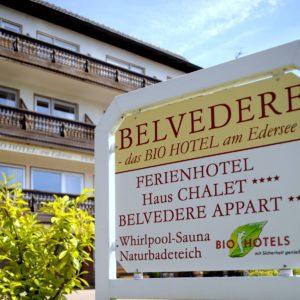 BELVEDERE- das BIOHotel garni & SuiteHotel am Edersee / Sauerland
